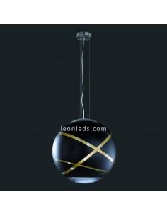 Lámpara de techo colgante serie Faro de color negro, oro, cromo con un diámetro de 50Cm de diseño moderno | LeonLeds Iluminació