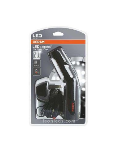 Linterna LED Osram Foldable 80 Ledil201 magnética y recargable redonda con gancho | LeonLeds Iluminación