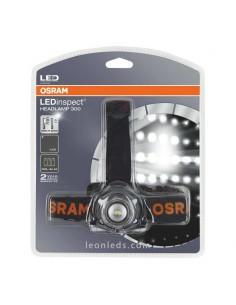 Linterna LED de Cabeza potente Osram HeadLamp 300 3 Pilas AA - Linterna Frontal LED de pilas Osram | LeonLeds Iluminación