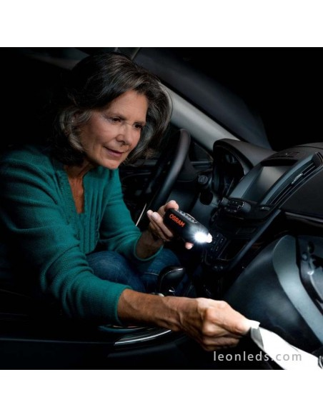 Linterna LED para 3 pilas AAA baratas para el coche de Osram Ledil 202 con gancho y magnética | LeonLeds Iluminación