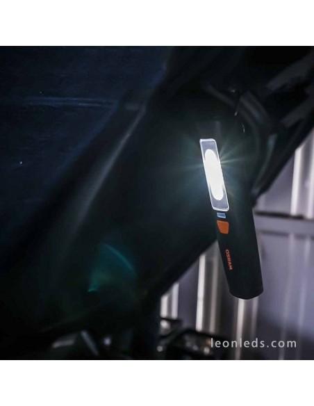 Linterna LED Osram Profesional 150 Recargable Magnética con base de carga Barata para mecanicos | LeonLeds Iluminación