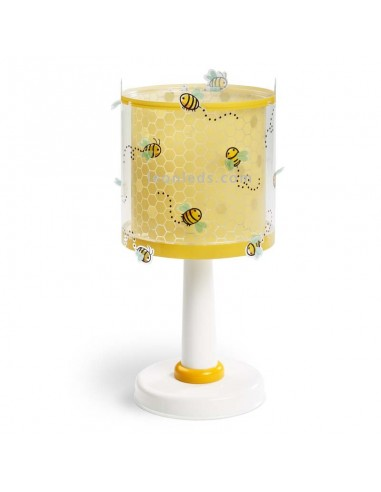 Lámpara Infantil de mesa de noche Bee Happy de Dalber con divertidas abejas | LeonLeds Iluminación