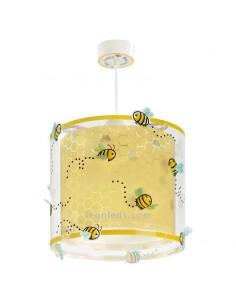 Lámpara de techo Infantil Bee Happy de Dalber imitando a una colmena feliz de abejas | Leonleds Iluminación