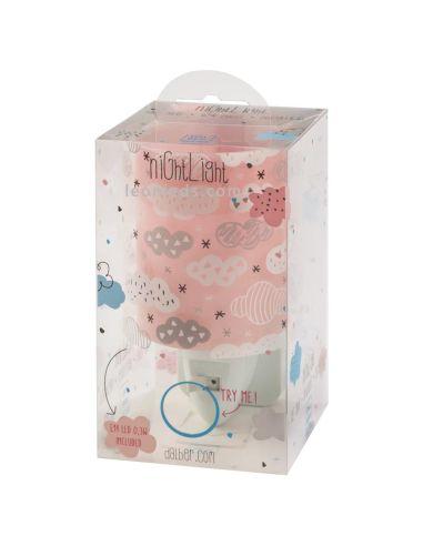 Quitamiedos LED rosa de diseño infantil Clouds de Dalber de color Rosa Luz de Noche rosa barata | LeonLeds Iluminación