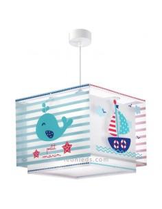 Lámpara de Techo Infantil Marinero Nautica Cuadrada Dalber 43422 Bebe Serie Petit Marin | LeonLeds iluminación