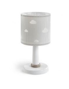 Lámpara Infantil de sobremesa Infantil con nubes serie Sweet Dreams de Dalber Blanca Gris 62011E | LeonLeds