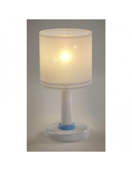 Lámpara Infantil de Sobremesa serie Sweet Dreams Azul con base redonda 62011T de Dalber | LeonLeds