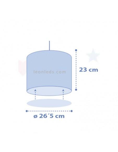 Dimensiones de Lámpara de Techo Gris Sweet Dreams con nubes Dalber 62012E | LeonLeds Iluminación
