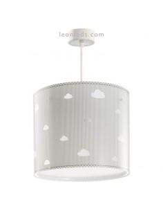 Lámpara de Techo Redonoda Sweet Dreams Gris con nubes Dalber 62012E   LeonLeds Iluminación