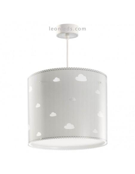 Lámpara de Techo Redonoda Sweet Dreams Gris con nubes Dalber 62012E | LeonLeds Iluminación