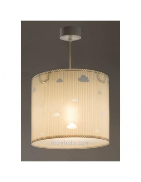 Lámpara de Techo Gris Sweet Dreams Gris con nubes Dalber 62012E | LeonLeds Iluminación