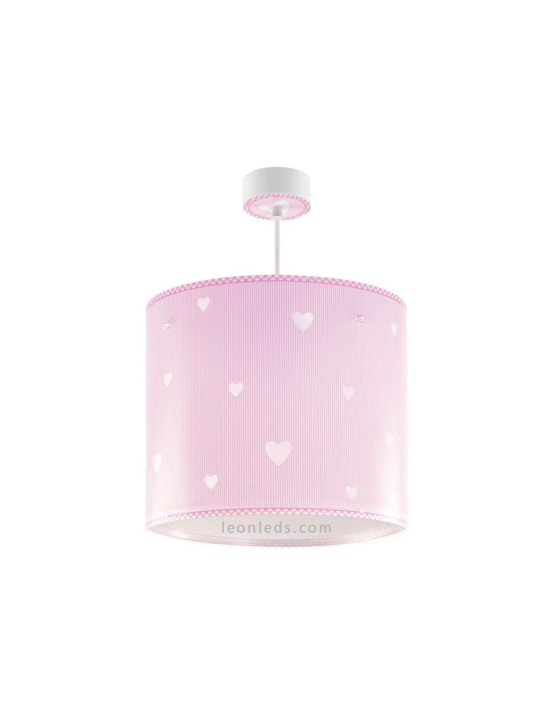 Lampara de techo infantil rosa con corazones dalber 62012s - Lampara de techo infantil ...