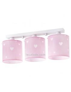 Lámpara Infantil 3 Luces de techo para bebe Rosa y blanca Sweet Dreams Dalber 61903 | LeonLeds Iluminación