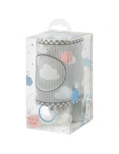 Luz Quitamiedos LED Infantil Gris para bebe para enchufe | LeonLeds Iluminación Infantil LED