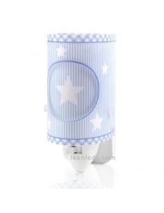 Quitamiedos LED Luz de Noche Infantil para bebe Serie Sweet Dreams Gris con nubes 62015E | LeonLeds