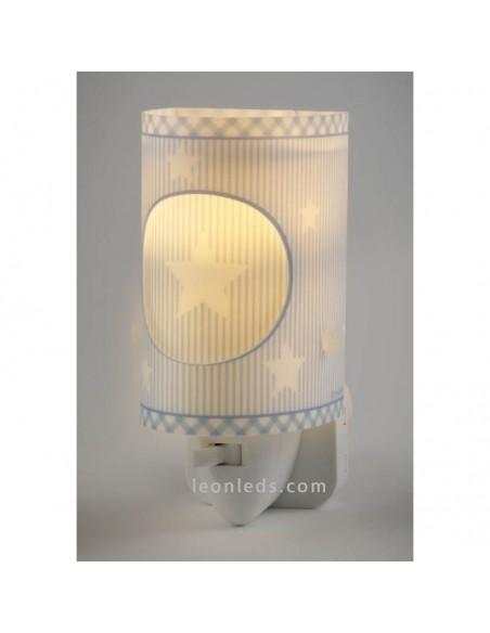 Luz Quitamiedos LED Bebes Gris con nubes 62015E | LeonLeds Iluminación Infantil LED