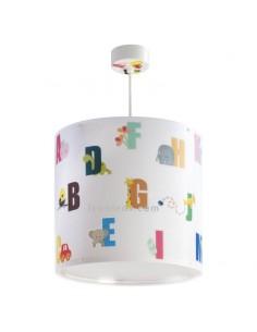 Lámpara de Techo Infantil Redonda Serie ABC Abecedario Dalber 72272 | LeonLeds Iluminación