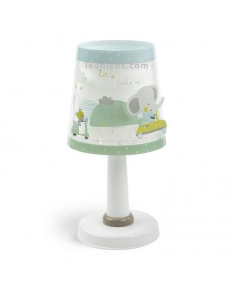 Lámpara de Sobremesa Infantil redonda de Dalber A Littel Trip   Lámpara infantil original   LeonLeds Iluminación