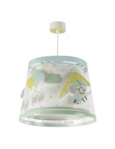 Lámpara de Techo Infantil original A Little Trip redonda de dalber con elefantes volando   LeonLeds Iluminación