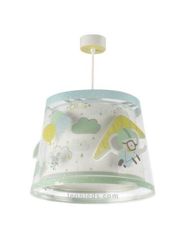 Lámpara de Techo Infantil original A Little Trip redonda de dalber con elefantes volando | LeonLeds Iluminación
