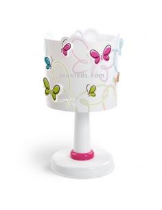 Lámpara de Sobremesa Infantil con Mariposas de colores Butterfly 62141 Dalber | LeonLeds Iluminación