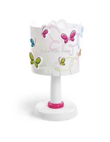 Lámpara de Sobremesa Infantil con Mariposas de colores Butterfly 62141 Dalber   LeonLeds Iluminación