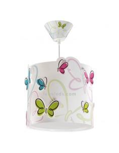 Lámpara de techo Infantil Mariposas de colores serie Butterfly rosa azul verde naranja blanca 62142 | LeonLeds