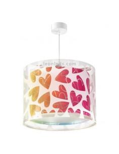 Lámpara de Techo Colgante Juvenil Infantil Corazones Serie Cuore Dalber 41182 | LeonLeds Iluminación