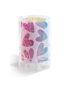 Lámpara Infantiles de Sobremesa o mesa de noche Mesita de noche serie Cuore 41181 Corazones de colores | LeonLeds