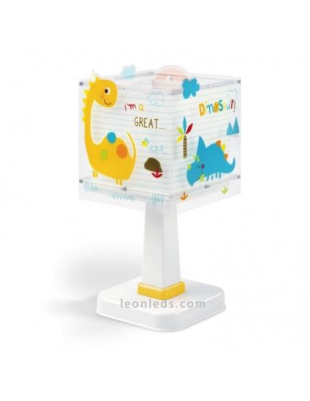 Lampara Infantil de mesa Serie Dinos con Pantalla cuadrada 73451 Dalber   LeonLeds Iluminación