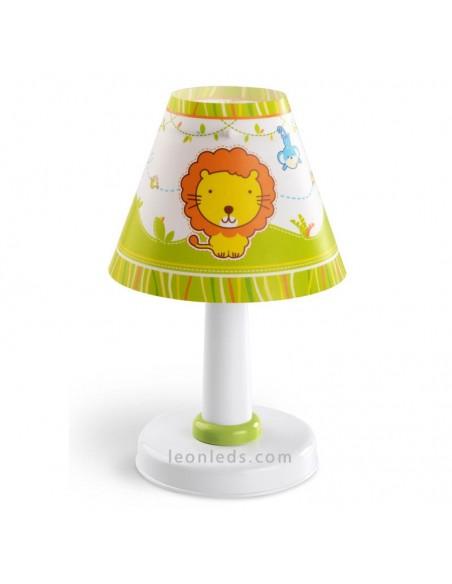 Lámpara de Sobremesa Infantil con animales de Zoo Little Zoo Redonda 21111 Animales de Zoo | LeonLeds Iluminación