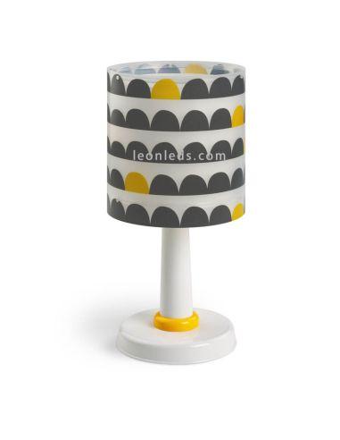 Lámpara Sobremesa Infantil Wonder 1XE14 70651 Blanca Negra y Amarilla mesa de noche   LeonLeds Iluminación