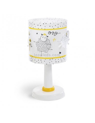 Lámpara de Sobremesa Infantil Time To Sleep Ovejas para Bebe Juvenil Dalber 72361 | LeonLeds Iluminación