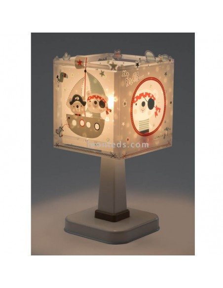 Lámpara de Sobremesa Infantilcon piratas, barcos y loros de Dalber baratos | Leonleds Iluminación