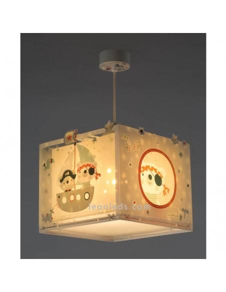 Lámpara de techo Infantil Serie The Pirates de Dalber con ositos Piratas y color pastel en Oferta | LeonLeds Iluminación