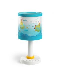 Lámpara de Mesita mesa de noche Sobremesa Infantil Serie Submarine Submarino Azul Amarilla Dalber 41301   LeonLeds