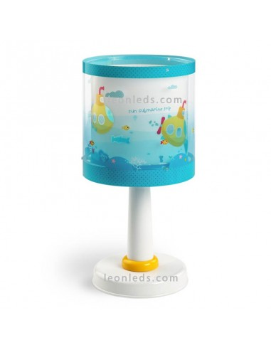 Lámpara de Mesita mesa de noche Sobremesa Infantil Serie Submarine Submarino Azul Amarilla Dalber 41301 | LeonLeds