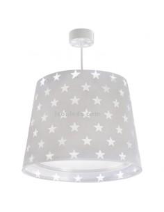 Lámpara Infantil Colgante de Techo serie Stars Estrellas Gris Dalber 81212E | LeonLeds Iluminación