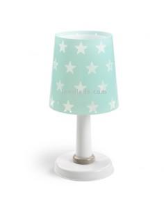Lámpara Sobremesa Infantil serie Stars Estrellas Verde 51211H Dalber de mesa de noche | LeonLeds Iluminación