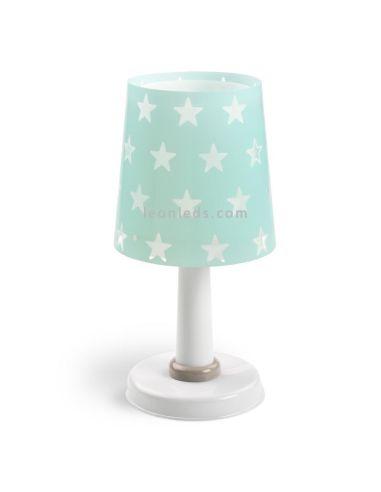 Lámpara Sobremesa Infantil serie Stars Estrellas Verde 51211H Dalber de mesa de noche   LeonLeds Iluminación