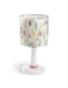 Lámpara de Sobremesa Infantil Juvenil gotas de agua de colores Serie Color Rain Dalber 41431 | LeonLeds Iluminación