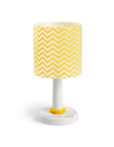 Lámpara de Sobremesa serie Fun de Dalber Rayas Amarillas sobre fondo transparente 42661   LeonLeds Iluminación