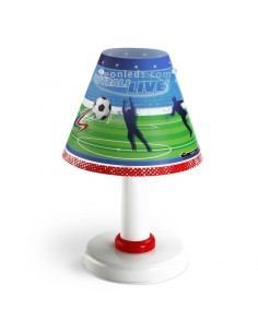Lámpara sobremesa mesita de noche Infantil Juvenil Futbol Football Dalber Redonda 21461   LeonLeds Iluminación