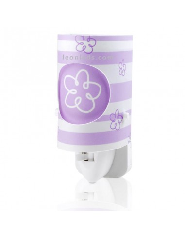 Luz Quitamiedos LED de noche Infantil Serie Dream Light color Malva | LeonLeds Iluminación Infantil