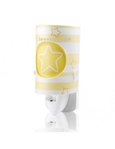 Luz de Noche Quitamiedos Infantil Dream Light Amarillo Estrellas y Rayas 63193L | LeonLeds Iluminación