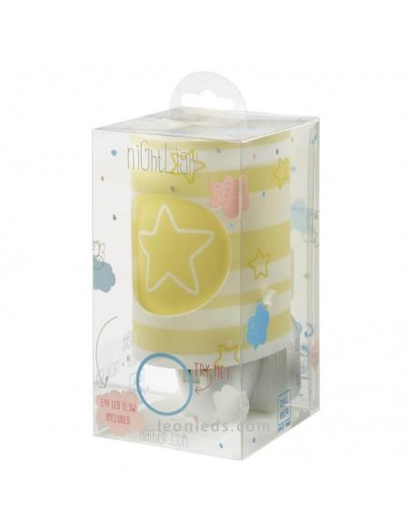 Luz Quitamiedos LED para enchufe Infantil Amarillo Dalber | LeonLeds Iluminación Infantil