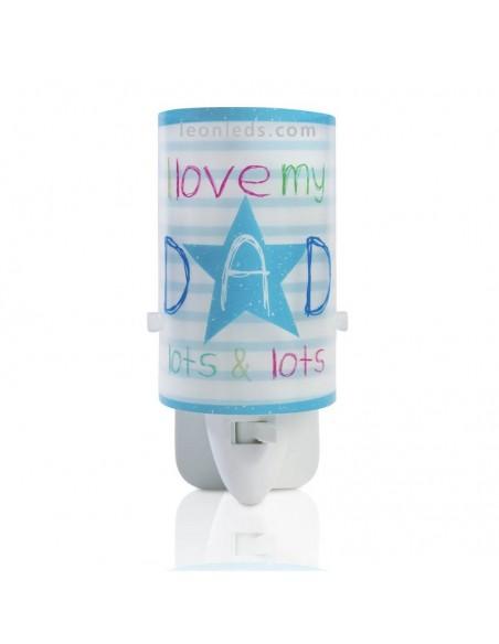 Luz LED Quitamiedos Infantil Azul para enchufe | LeonLeds Iluminación Infantil