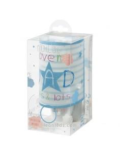 Luz LED Quitamiedos Infantil Mum & Dad Azul sobre fondo blanco | LeonLeds Iluminación infantil