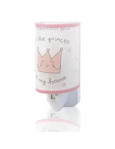 Luz Quitamiedos LED infantil para enchufe Rosa Prince & Princess 92831 | LeonLeds Iluminación Infantil