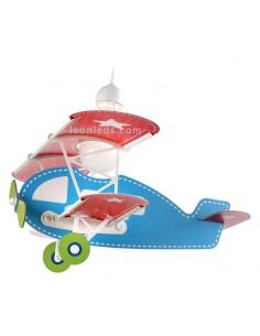 Lámpara Infantil Dalber serie Baby Planes 54002 con Forma de Avión Azul y Roja | LeonLeds
